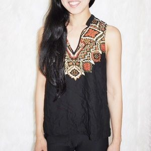 H&M versatile bohemian tribal accent blouse